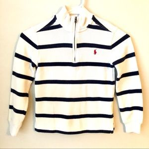 Ralph Lauren Polo Navy Ivory Striped Sweater